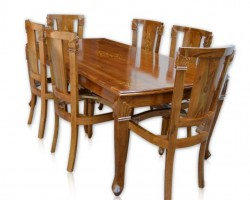 DINING CHINA INLAY 6 SEATER-WITHOUT CUSHION