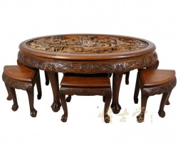 chinese-antique-teak-wood-massive-carved-coffee-table-11lp28b