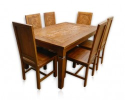 dining set cashew 6 seater